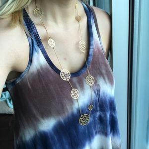 Gold Coach Long Necklace